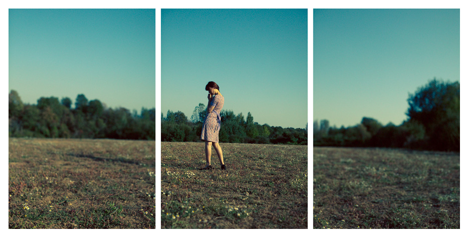 Anna - farmland triptych by Tom Spianti