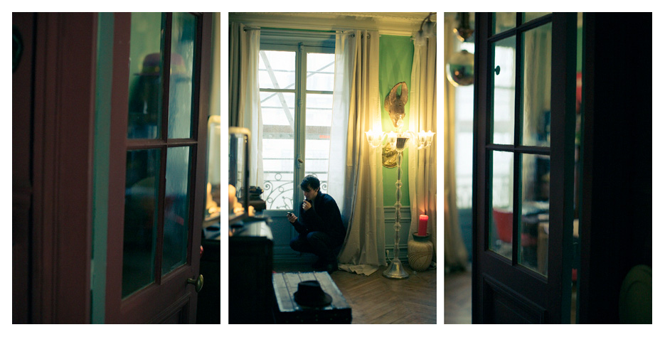 Antoine - Phone Triptych by Tom Spianti