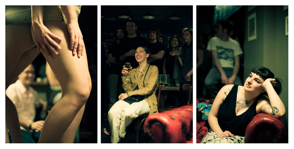 Cabaret Martyr - Strip Tease Triptych by Tom Spianti