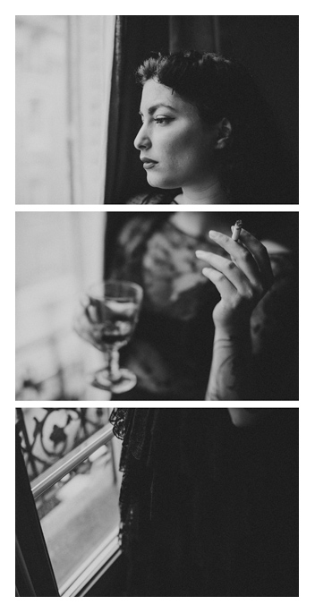 Calista Aleyna in Paris, triptych photo by Tom Spianti