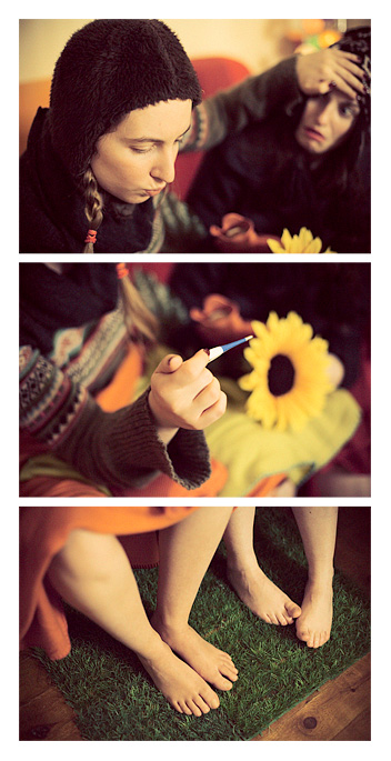 Julie & Flo - Temperature Triptych by Tom Spianti