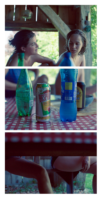 Manue & Ophélie - Drinkin' Time Triptych by Tom Spianti