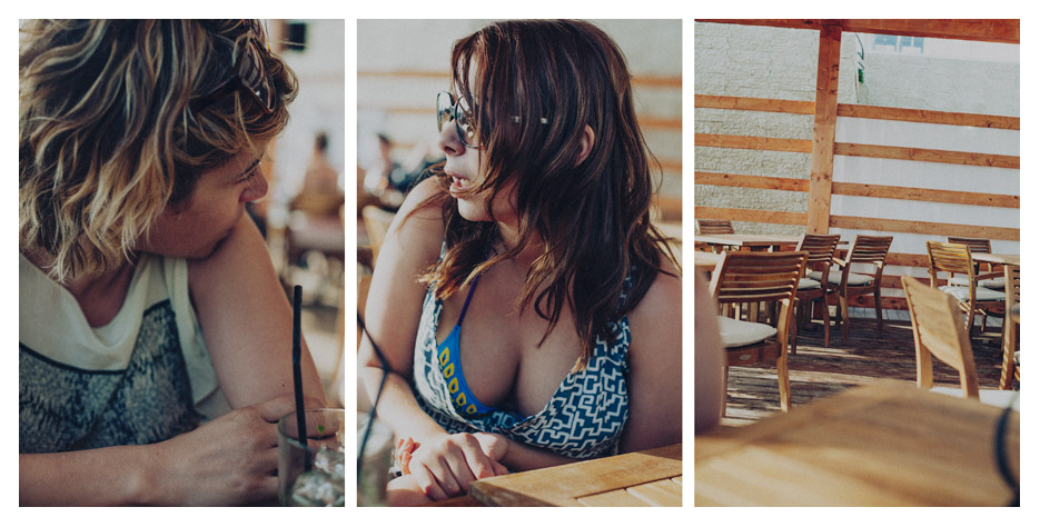 morgane & jenna - having a drink triptych by Tom Spianti