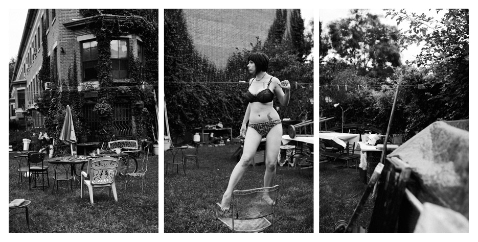 Miss Vivian - Garden Triptych by Tom Spianti