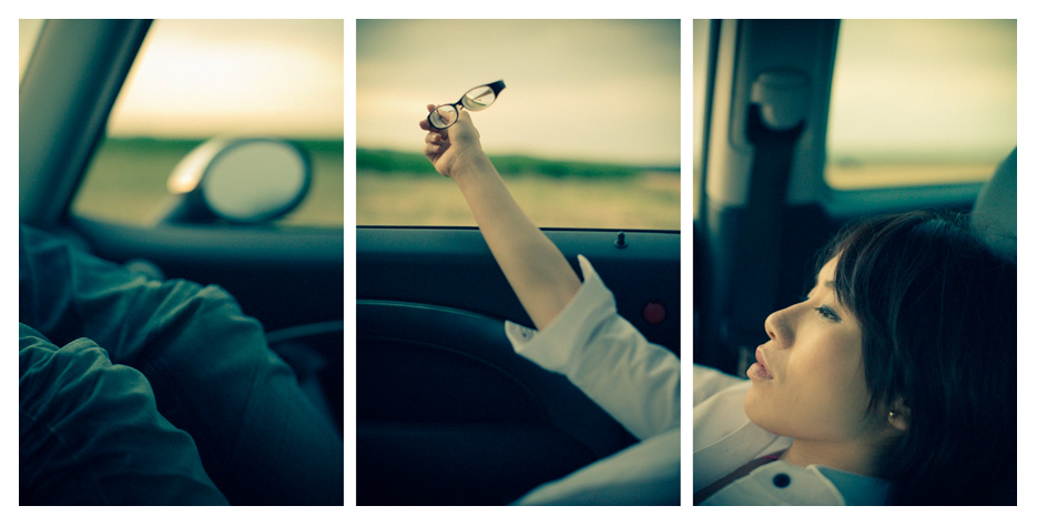 Yiting - in the Car Triptych by Tom Spianti